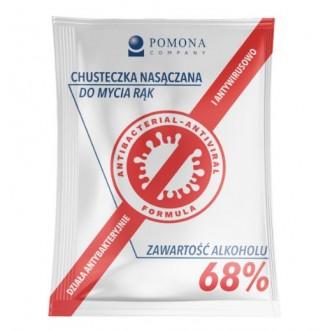 Chusteczka antybakteryjna POMONA do dezynf rąk, alkohol 68%