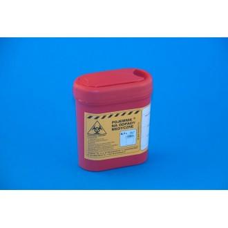 Pojemnik na odpady medyczne 0,7 L czerwony PLASPOL