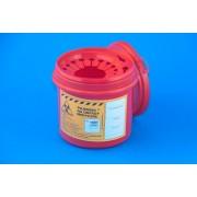 Pojemnik na odpady medyczne 1 L czerwony PLASPOL