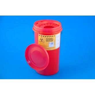 POJEMNIK na odpady medyczne 2 litry czerwony PLASPOL