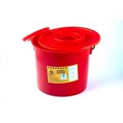POJEMNIK na odpady medyczne 5 litrów czerwony PLASPOL