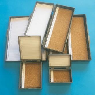 Pudełko z ABS NA 100szt. szkiełek mikroskopowych EQUIMED