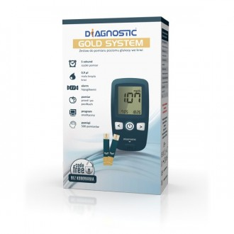 GLUKOMETR GOLD SYSTEM DIAGNOSTIC