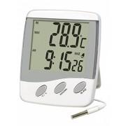 Termometr pogodowy wewnętrzno zewnętrzny T-9265 Zegar