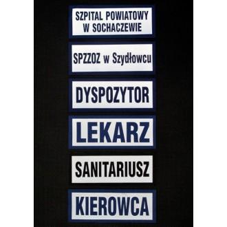 Naszywka odblaskowa KIEROWCA 13 x 5 cm