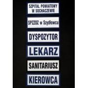 Naszywka odblaskowa LEKARZ 13 x 5 cm