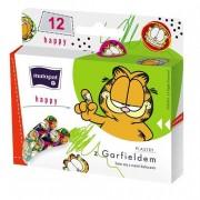 Plastry HAPPY dla dzieci 12 szt z kotem Garfieldem Matopat