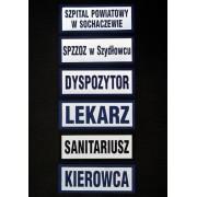 """Naszywka kordurowa, emblemat 31x10cm """"LEKARZ"""""""
