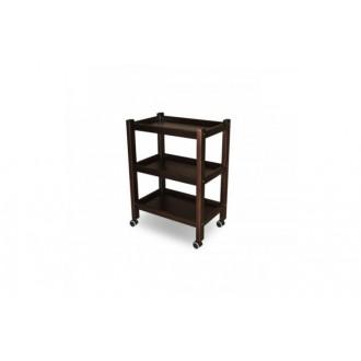Stolik drewniany, regał 3 półki - Juventas