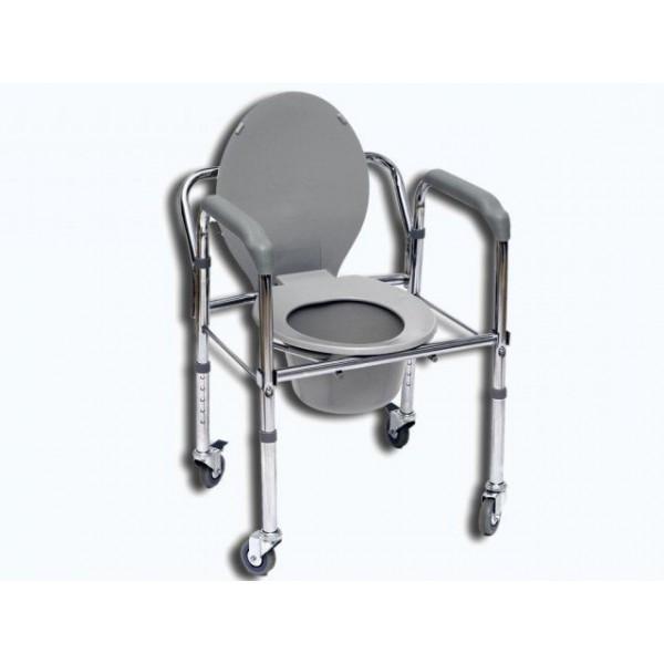 KRZESŁO toaletowe sedesowe sanitarne na kółkach FS 696