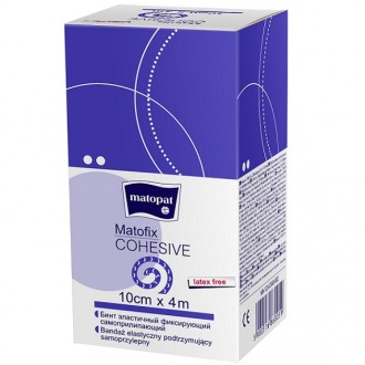 MATOFIX COHESIVE 6cmx4m samoprzylepny bandaż elastyczny