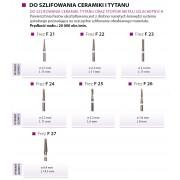 Frez węg. spiek. biały F21-F27 do ceramiki i tytanu