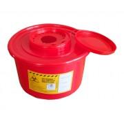 Pojemnik na odpady medyczne 3,5 L czerwony PLASPOL