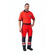Spodnie ratownictwa męskie R757 czerwono/granatowe