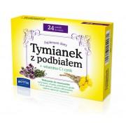 Tymianek z Podbiałem + witamina C i cynk 24 tabletek Biotter