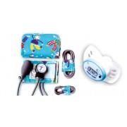 Ciśnieniomierz zegarowy, pediatryczny HS-20C z termometrem smoczkiem DT211A