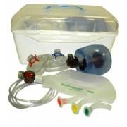 Resuscytator silikonowy pediatryczny w walizce z maską nr.3 , 4*rurki u-g