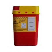 Pojemnik na zużyte igły medyczne 0,2L czerwony