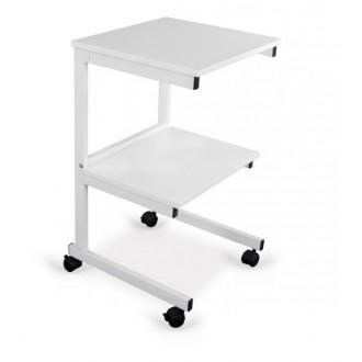 Stolik pod aparaturę Aluminiowy - 2 półki - Juventas