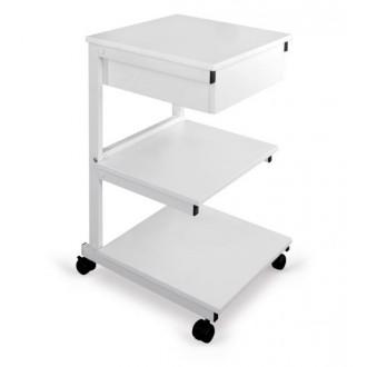 Stolik pod aparaturę Aluminiowy - 3 półki + szuflada - Juventas