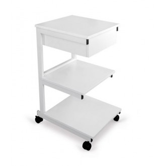 Stolik pod aparaturę metalowy - 3 półki + szuflada - Juventas