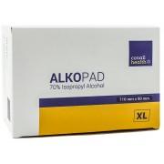 Gaziki ALKOPAD XL 110 x 90 mm nasączone alkoholem 100szt