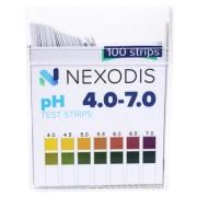 PASKI wskaźnikowe PH 4.0 - 7.0 a'100szt NEXODIS