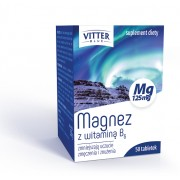 MAGNEZ 125 mg z witaminą B6 50 tabletek VITTER BLUE