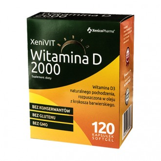 XENIVIT WITAMINA D 2000 mg 120 kaps. XENICO PHARMA
