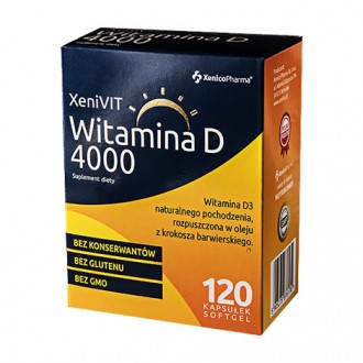 XENIVIT WITAMINA D 4000 120 kaps. XENICO PHARMA