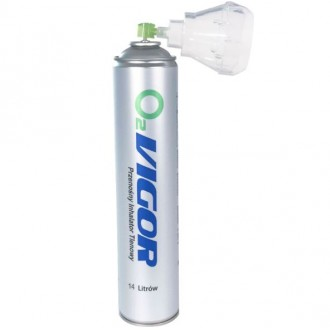 Skoncentrowany tlen inhalacyjny O2 VIGOR 99%  /obj.14L poj. 1L/